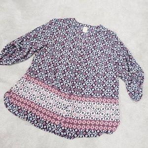 Ladies Button Up Boho Blouse